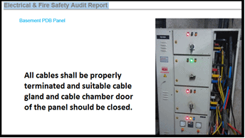 Electrical Safety Audit - Proper arrangment of cables