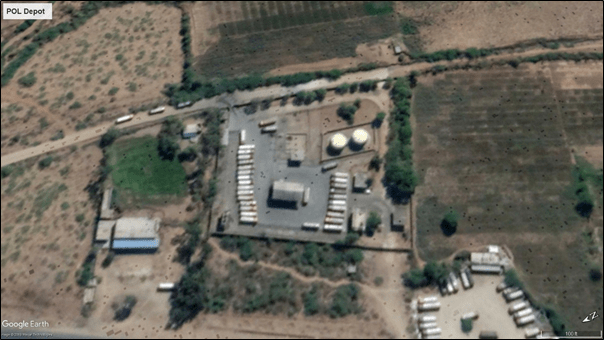 Aerial View of POL Depot