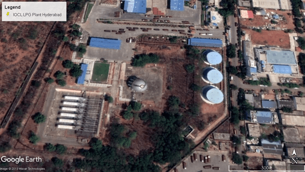 Aerial View of IOCL LPG Plant Hyderabad