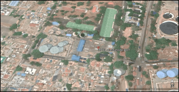 Aerial View of HPCL Cassimode Terminal